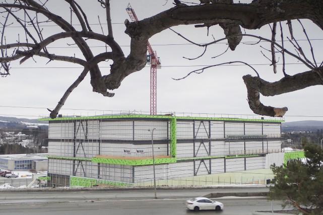 La superclinique en construction dans l'ouest de Sherbrooke... (Spectre Média)