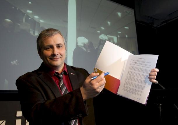 Le directeur général du Digihub, Philippe Nadeau.... (Sylvain Mayer)