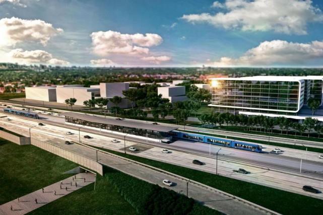 Le Réseau électrique métropolitain, proposé par la Caisse... (IMAGE fournie par CDPQ Infra)