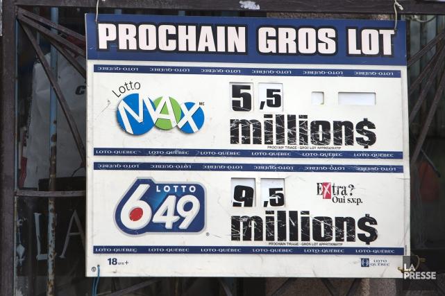 Un groupe de 11 personnes de Jonquière se partagent un lot de 1 M$ remporté... (Archives La Presse)