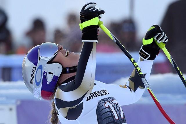Lindsey Vonntotalise désormais 77victoires en Coupe du monde.... (Photo Marco Tacca, AP)