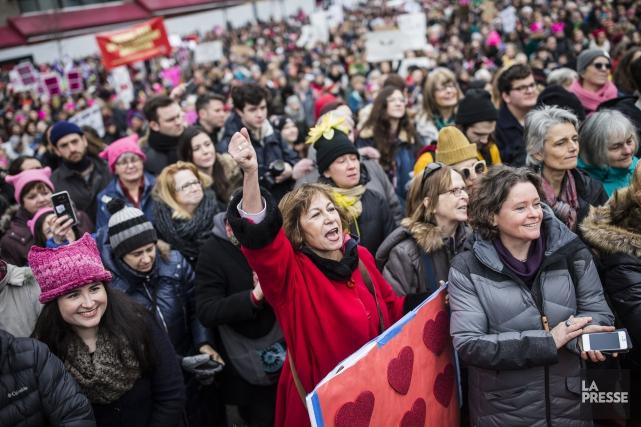 Des milliers de personnes se sont rassemblées, le... (La Presse)