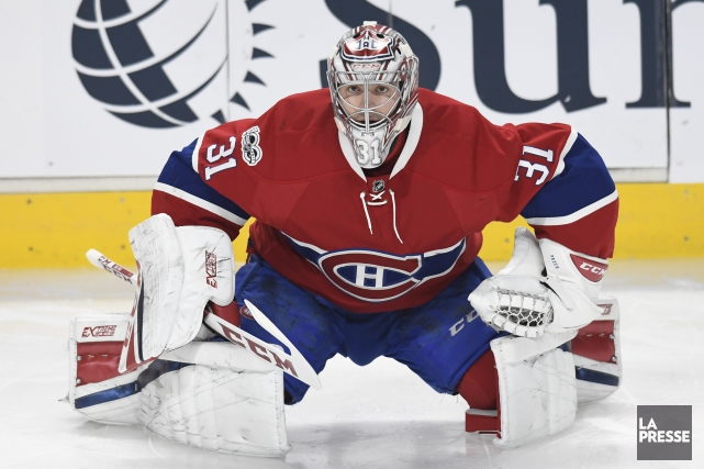 Carey Price est de retour devant le filet... (PHOTO BERNARD BRAULT, LA PRESSE)