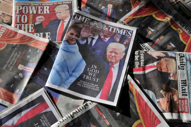 Les unes de diverses publications britanniques, samedi matin.... (Photo AFP)