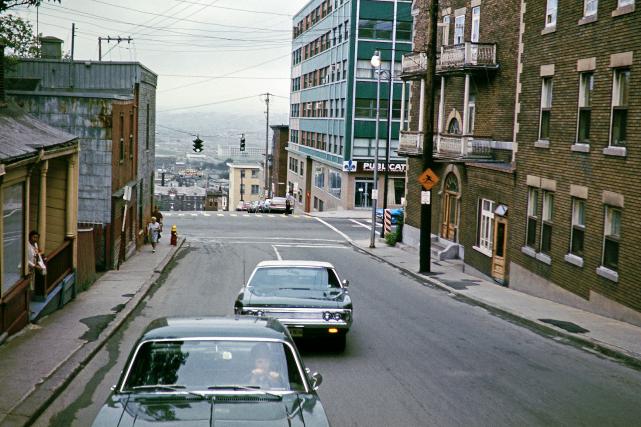 L'avenue De Salaberry en 1971... (© Collection Jocelyn Paquet, les Archives du photographe.)