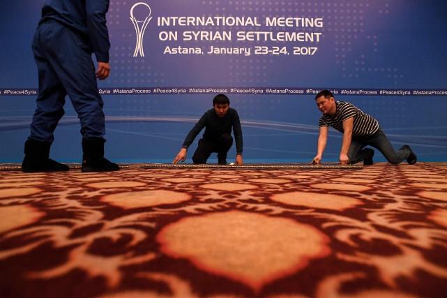 Les pourparlers d'Astana, également parrainés par l'Iran, fidèle... (Photo KIRILL KUDRYAVTSEV, Agence France-Presse)