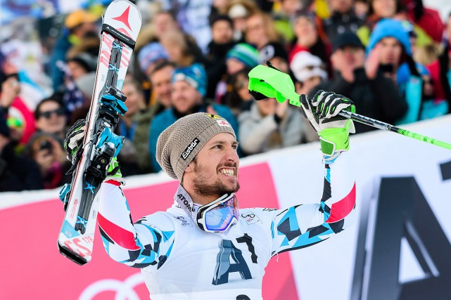Marcel Hirscher... (Photo Jure MAKOVEC, AFP)