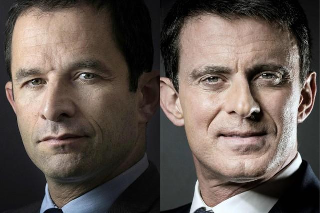 Benoît Hamon et Manuel Valls s'affronteront au second... (AFP)