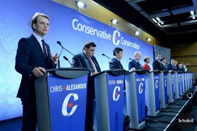 Les candidats à la direction du Parti conservateur... (Photothèque Le Soleil, Jean-Marie Villeneuve)