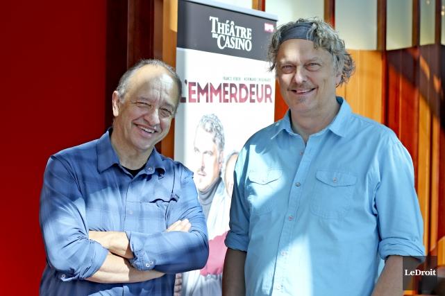 Dans L'emmerdeur, Marcel Leboeuf incarne avec Normand D'Amour... (Le Droit, Patrick Woodbury)