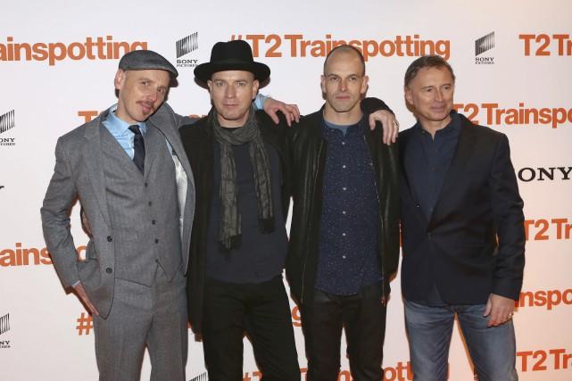 Ewan Bremner, Ewan McGregor, Johnny Lee Miller et... (AP, Mark Mainz)