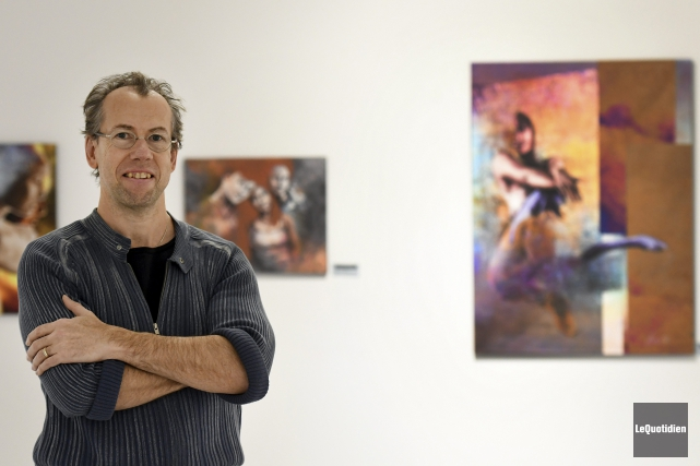 Marc Tremblay présente l'exposition Corps et poussières d'étoile,... (Photo Le Quotidien, Rocket Lavoie)