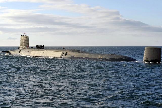 Le HMS Victorious, l'un des quatre sous-marins nucléaires... (AFP, Andy Buchanan)