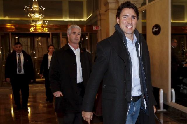 Justin Trudeau était à Calgary pour entreprendre une... (La Presse canadienne, Jeff McIntosh)