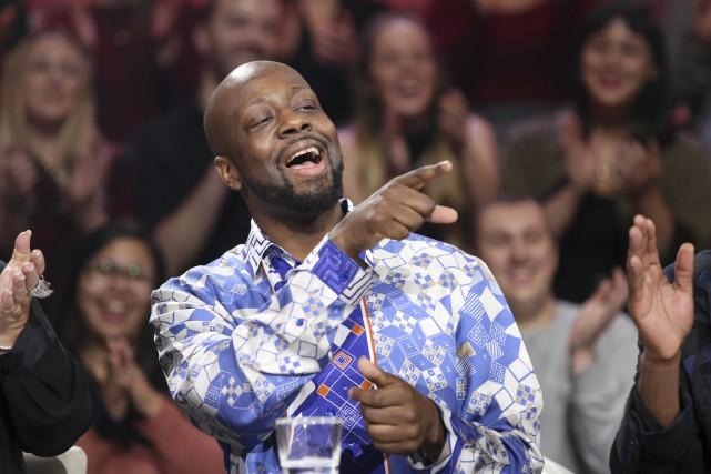 Plein d'humour, Wyclef Jean a fait la cour... (fournie par ICI Radio-Canada Télé)