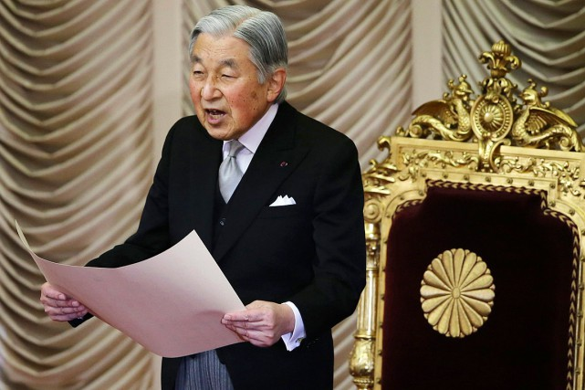 L'empereurAkihito, qui avait succédé en 1989 à son... (Photo Koji Sasahara, archives AP)