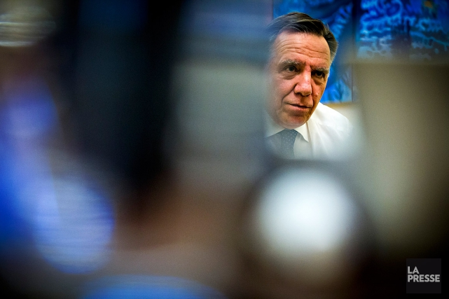 Le chef de la Coalition avenir Québec, François... (Photo Olivier Jean, archives La Presse)