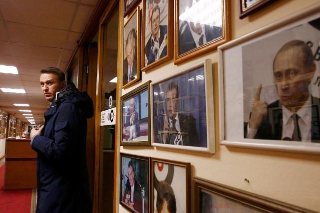 AlexeïNavalny a annoncéen décembre sa candidature àla présidentielle... (Photo Maxim Shemetov, archives REUTERS)