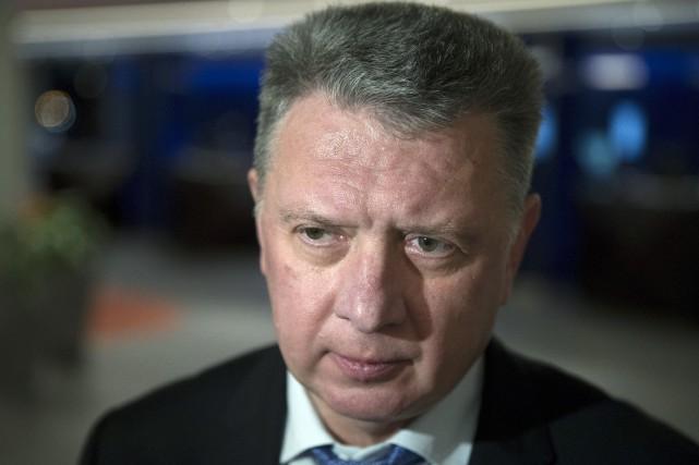 Le président de la Fédération russe d'athlétisme, Dmitry... (Photo Pavel Golovkin, AP)