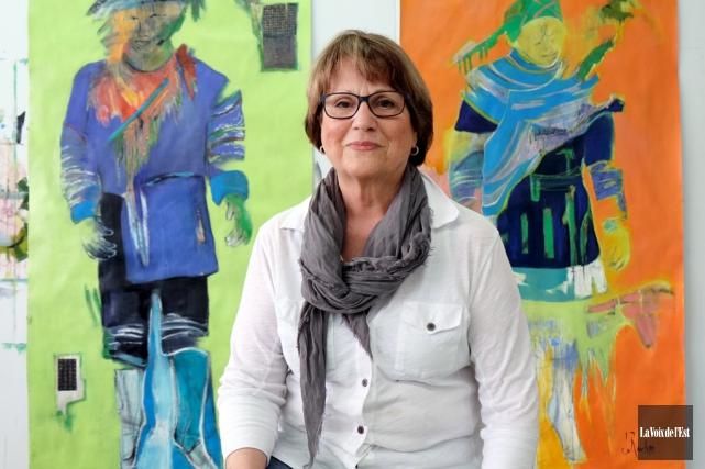 L'artiste-peintre Renée duRocher verra quelques-unes des toiles de... (Alain Dion, La Voix de l'Est)