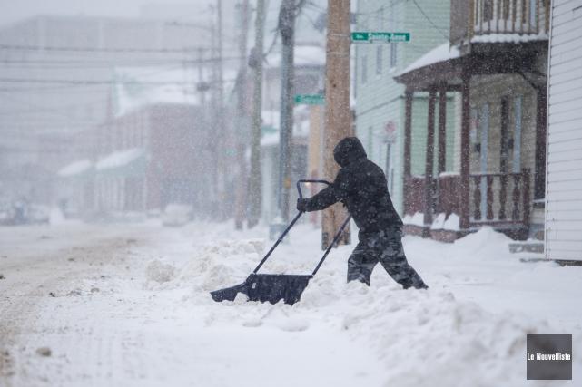 De 15 à 25 cm de neige sont... (Olivier Croteau, Le Nouvelliste)