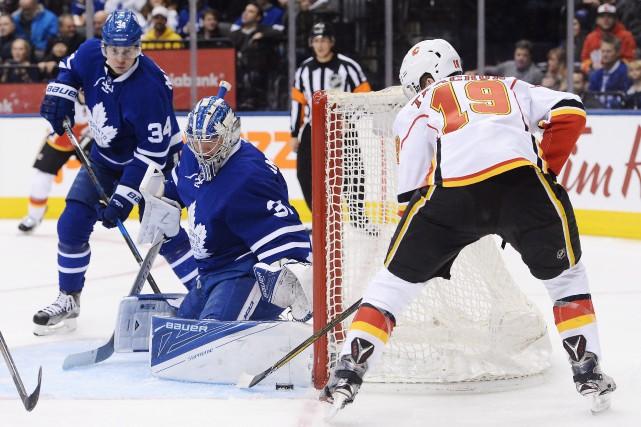 Le gardien Frederik Andersen, des Maple Leafs, a... (Photo Nathan Denette, La Presse canadienne)
