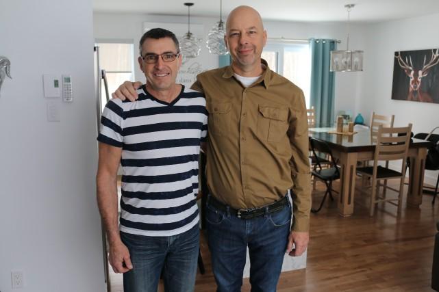 Bruno Hélie et Daniel Desrochers.... (Photo: Audrey Tremblay)