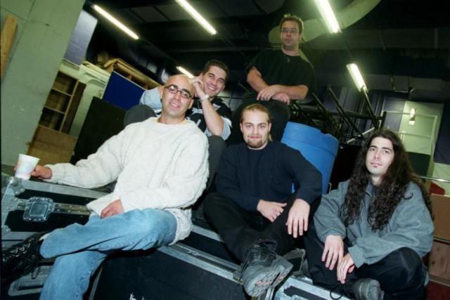 LaChicane, en octobre 2000. Tous les membres originaux... (PHOTO RÉMIE LEMÉE, ARCHIVES LA PRESSE)