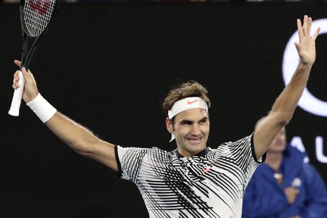 Roger Federer a vaincu facilement Mischa Zverev en... (Photo Aaron Favila, AP)