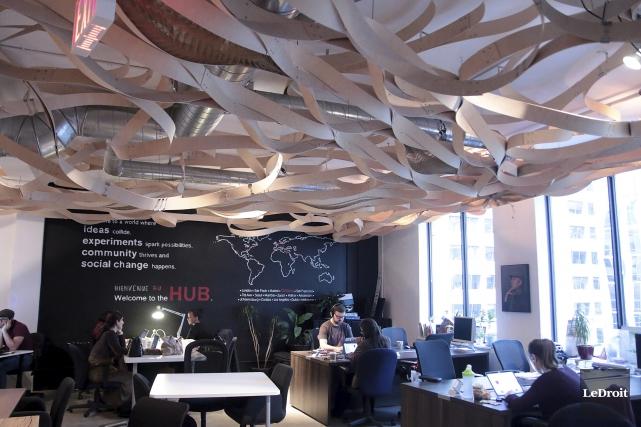 Les locaux d'Impact Hub, au centre-ville d'Ottawa.... (Etienne Ranger, Le Droit)