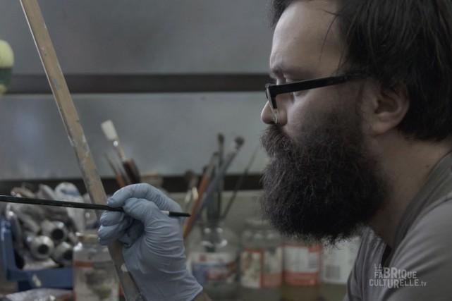Cette semaine, la Fabrique culturelle nous présente le peintre chicoutimien... (Télé-Québec Saguenay-Lac-Saint-Jean)