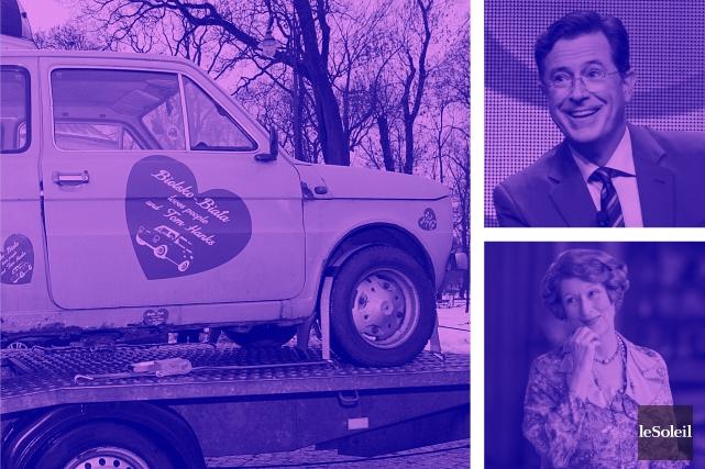 Des Polonais retapent une petite Fiat 126 pour l'offrir à Tom Hanks (Infographie Le Soleil)