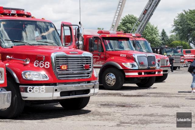 L'idée de réunir les services de sécurité incendie... (archives La Voix de l'Est)