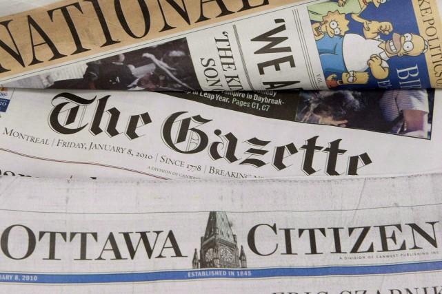 Postmedia peine depuis un long moment à générer... (Archives, La Presse canadienne)
