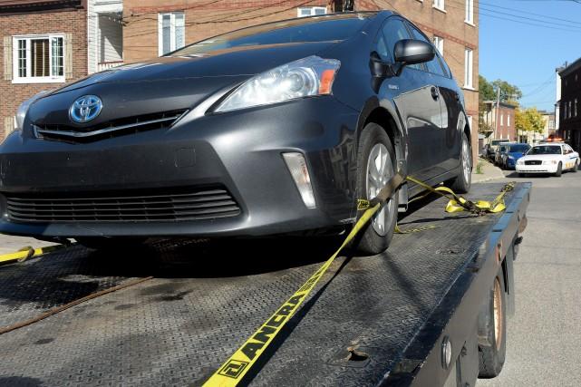 Alors qu'ils multipliaient les saisies de véhicules, les... (Photothèque Le Soleil, Erick Labbé)