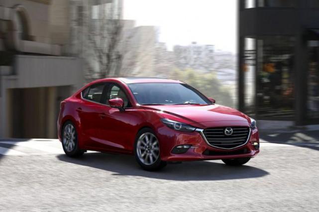 La Mazda3... (Photo fournie par le constructeur)