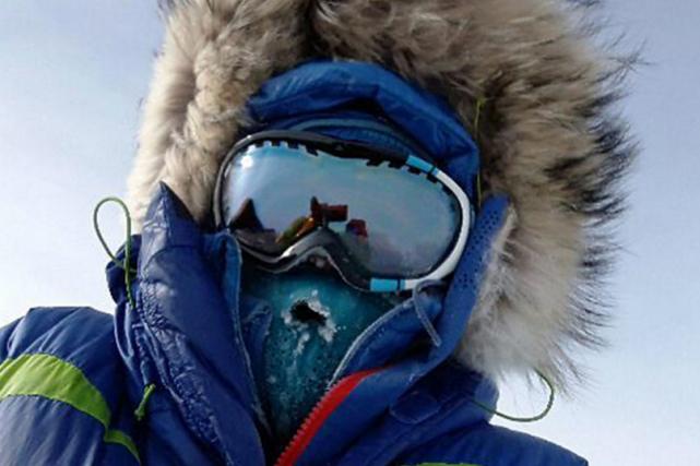 Malgorzata Wojtaczka agagné le pôle Sud à pied.... (Photo tirée de Twitter)