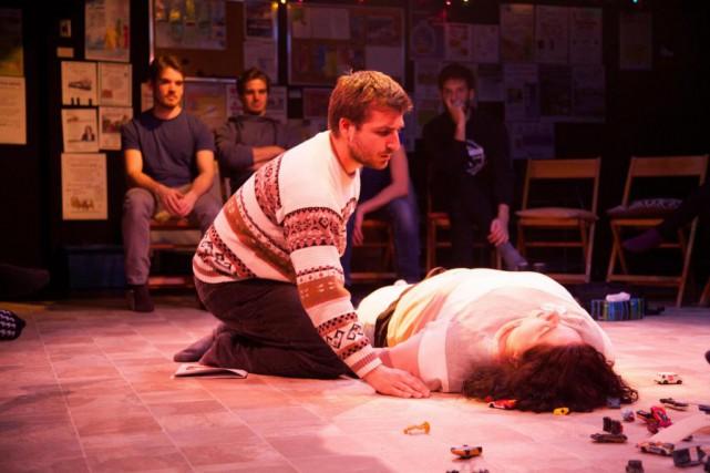 Blink, belle production du Théâtre de la bête humaine, nous fait voir... (Photo Laurence Dauphinais, fournie par la production)