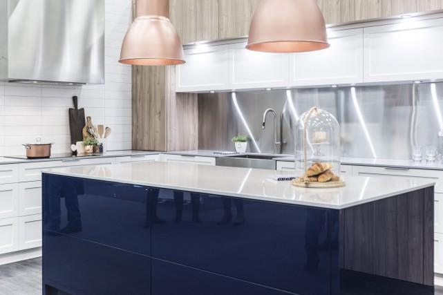 Cette cuisine signée Armoires Lévis a suscité bien... (Fournie par Armoires Lévis)