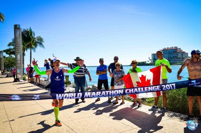 Patrick Charlebois a complété la troisième étape du... (photo: Facebook, World Marathon Challenge)