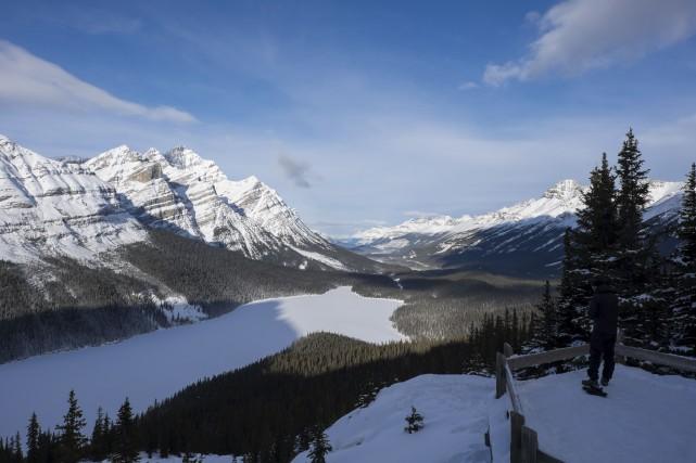La promenade des Glaciers, route 93, avec la... (La Presse, Yannick Fleury)