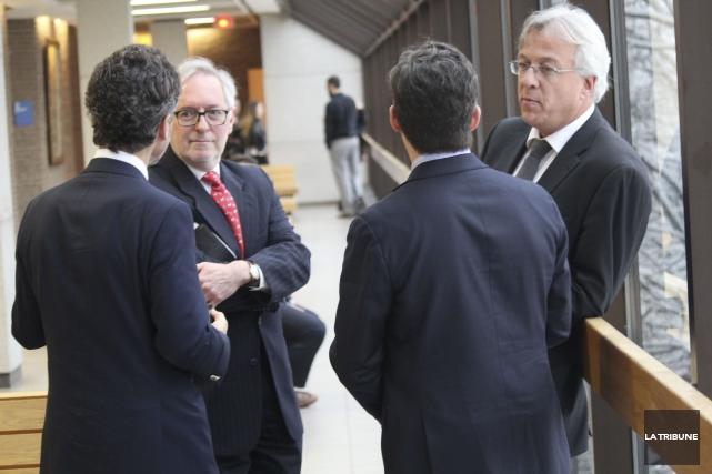 Les avocats du Canadien Pacifique Me André Durocher... (La Tribune, René-Charles Quirion)