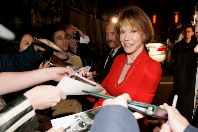 Mary Tyler Moore, ici en 2006, a tenu... (AFP, Vince Bucci)