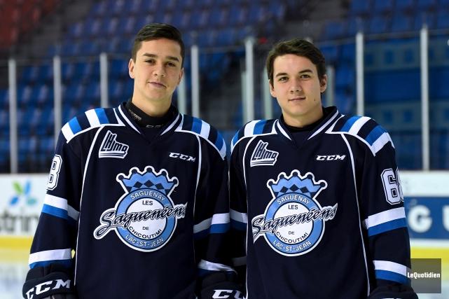 Samuel Houde et Mathieu Desgagnés préféraient continuer leur... (Photo Le Quotidien, Rocket Lavoie)