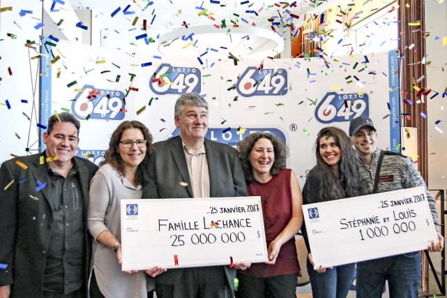 La famille Lachance, constituée d'Alain, Christine, Marc et...