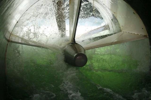 Une hydrolienne est testée dans les installations de... (PHOTO FOURNIE PAR BOEING, ARCHIVES LA PRESSE)