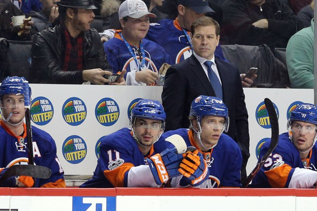 Avec Doug Weight comme entraîneur-chef, les Islanders n'ont... (Photo Brad Penner, USA Today Sports)