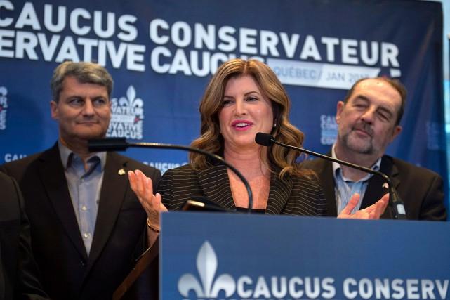 La rencontre des membres du caucus conservateur, qui... (Jacques Boissinot, PC)