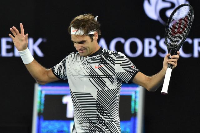 Roger Federer a l'intention de tout donner en... (AFP, Peter Parks)