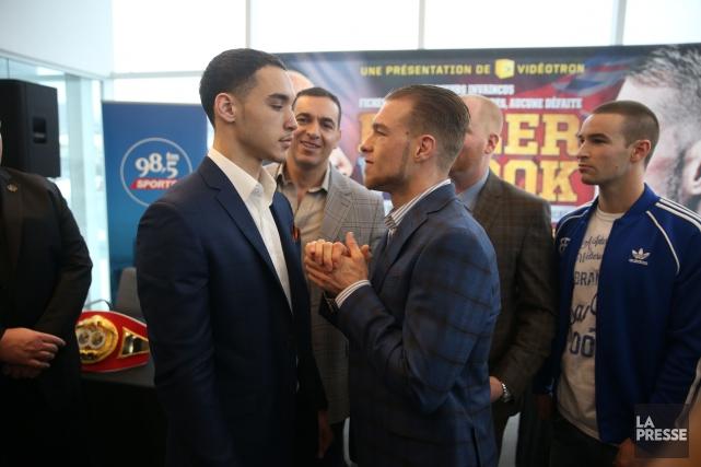Les boxeurs Steven Butler et Brandon Cook vont... (Photo Martin Chamberland, La Presse)